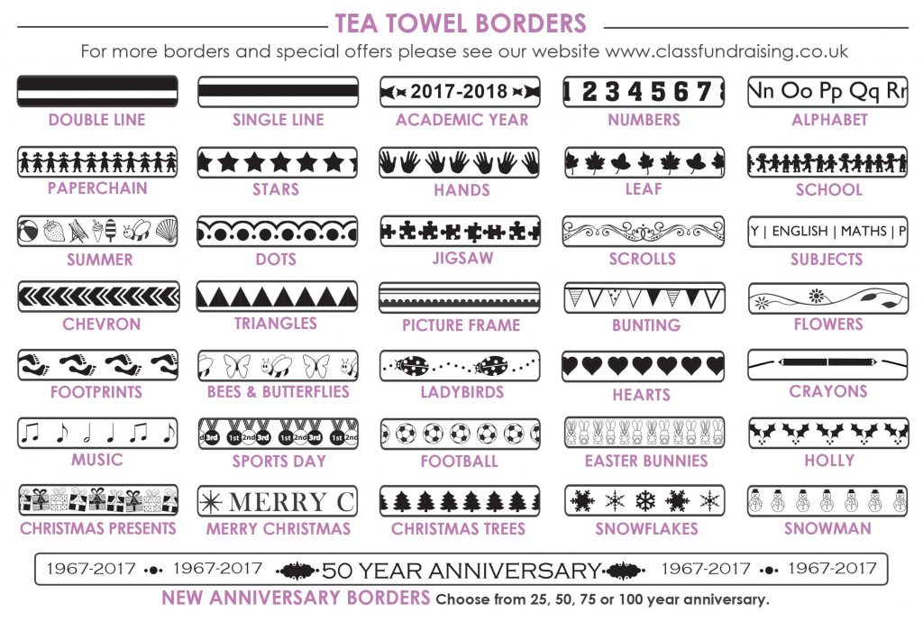 tea towel borders
