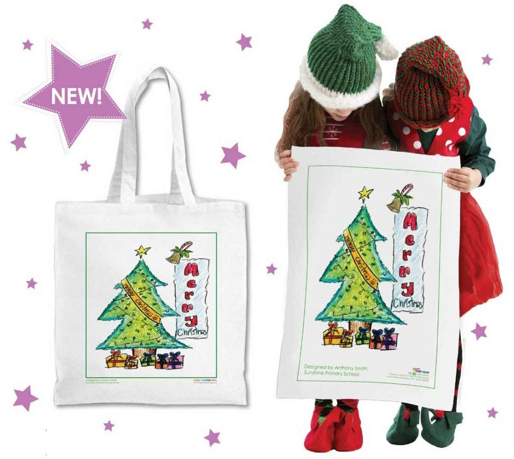 full colour christmas tea towels and bags for life