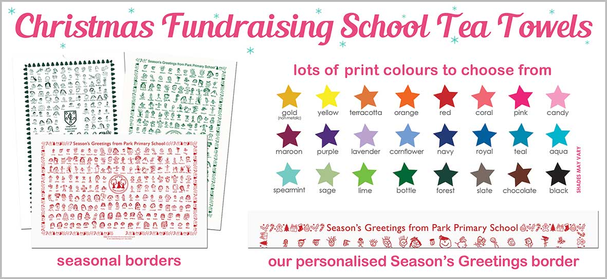 Fundraising Christmas School Tea Towels
