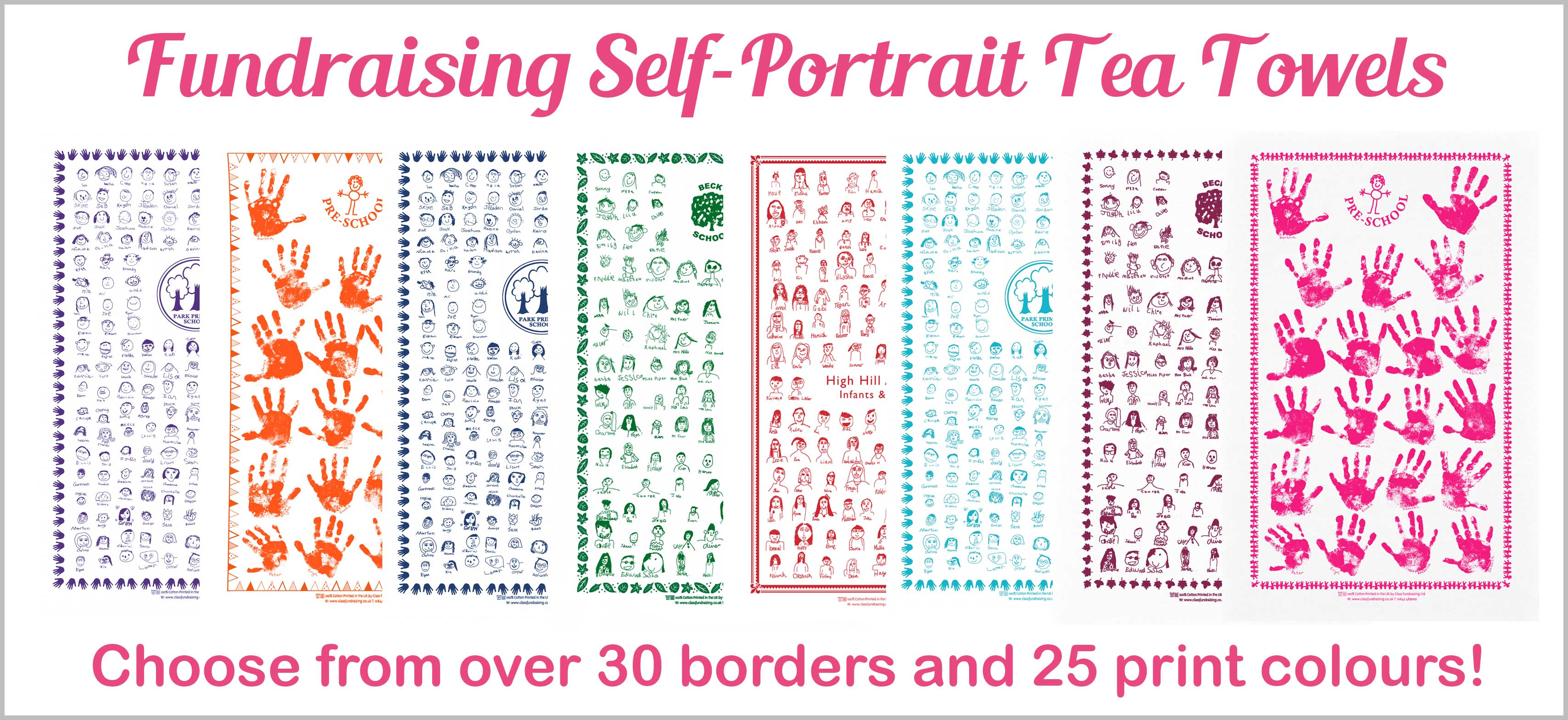 Fundraising Self-Portrait Tea Towels