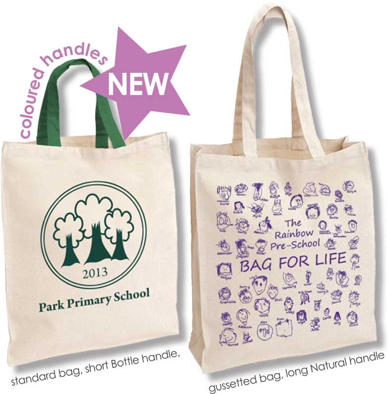 Tea Towels Printed For Schools: Cheap Printed Cotton Bags For Life UK : Class Fundraising