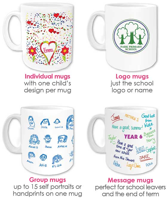 school fundraising mugs
