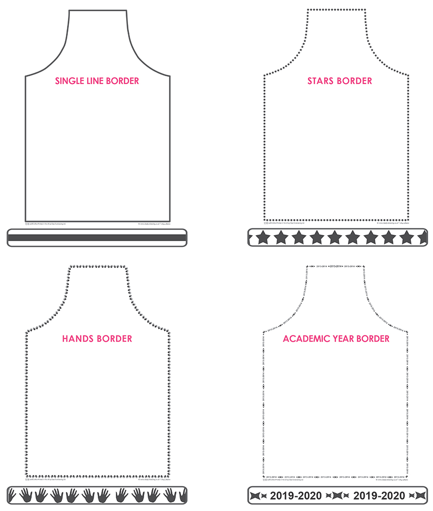 school fundraising apron borders