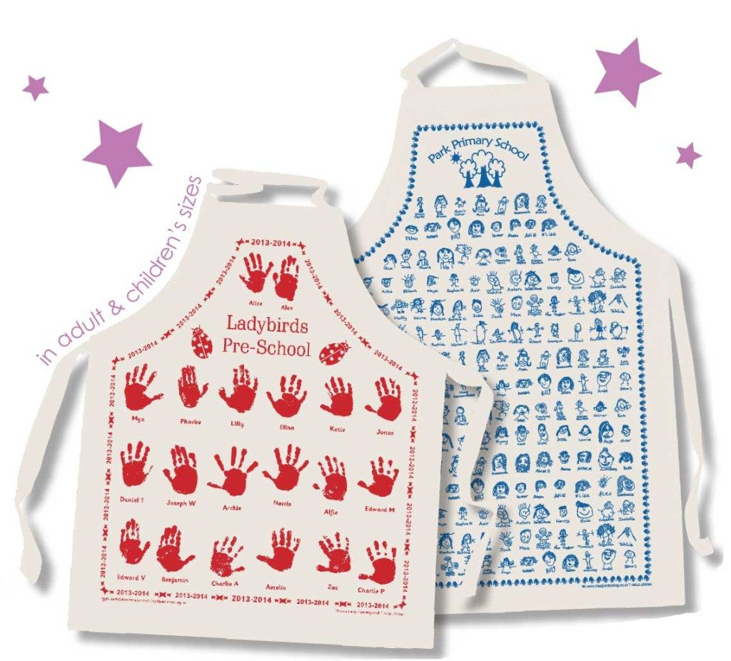 printed school aprons