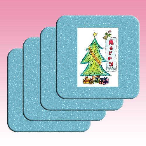 Printed coasters 4 pack