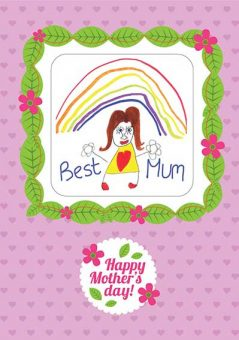 Mothers Day Coaster Card